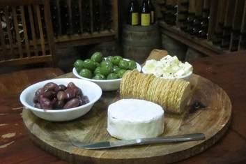 Locally marinated olives and WA cheeses